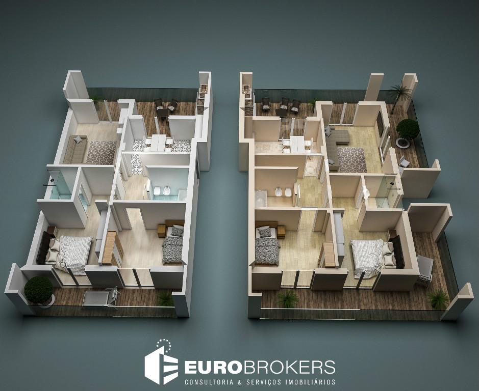 Apartamento T2 novo com suíte, varanda e amplo terraço, em Portimão